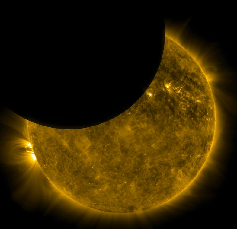 This Thursday, See A Partial Solar Eclipse At Sunset
