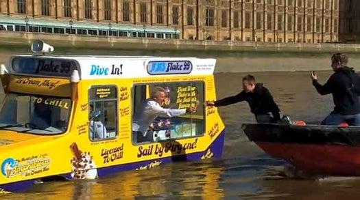 Video: World's First Amphibious Ice Cream Truck Jingles Around London