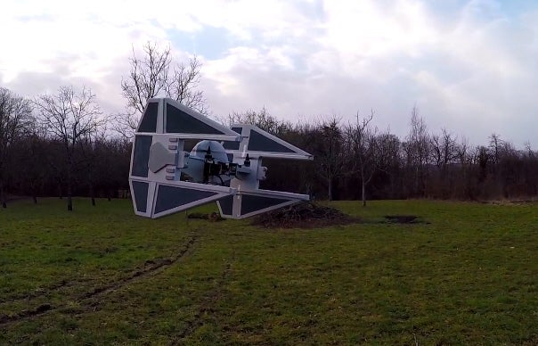 Watch A Homemade TIE Fighter Drone Fly [Video]