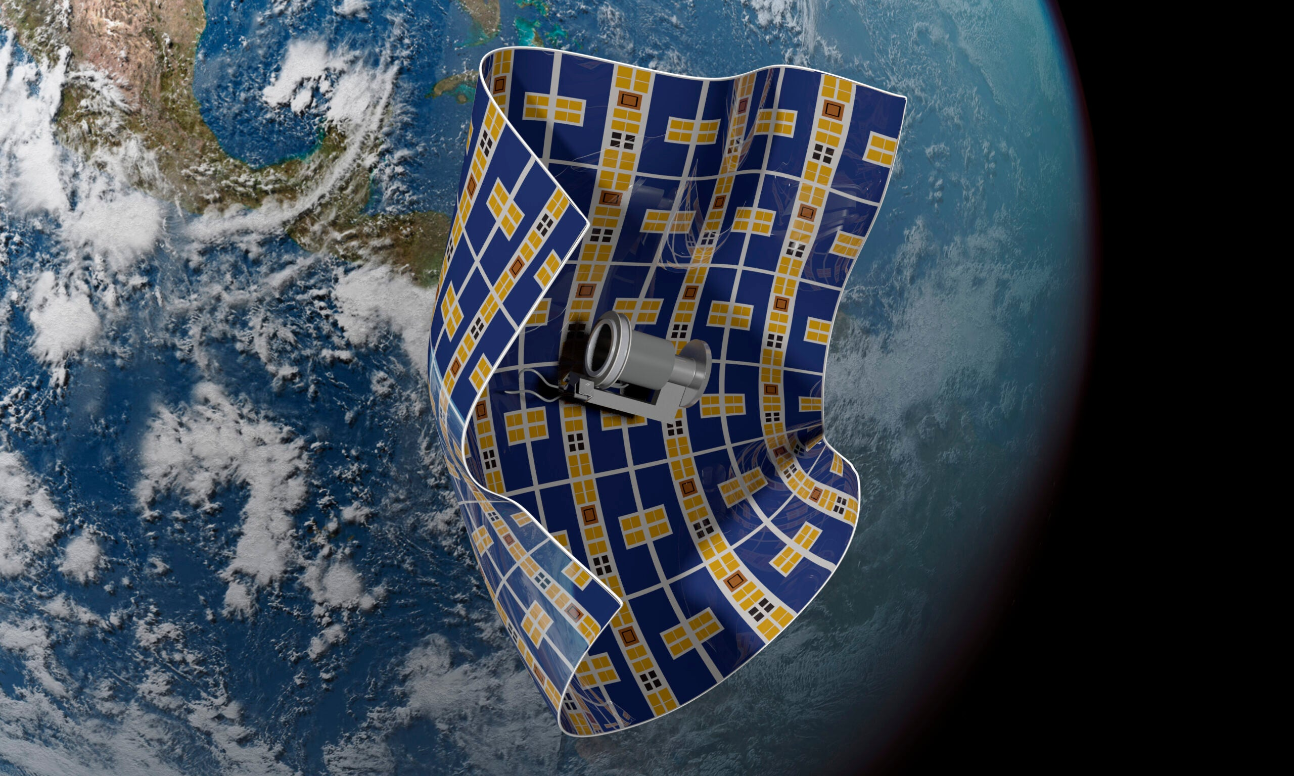 This spacecraft is thinner than a human hair and can capture space debris