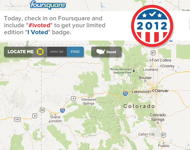 Live Map Shows Every Foursquare User Who's Voting Today, Where and When