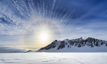 Important things found in Antarctica this week: 91 volcanoes and also a fruitcake