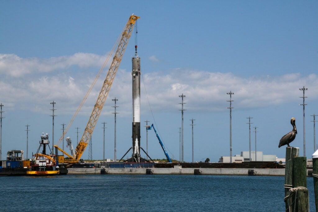 falcon 9 at port canaveral