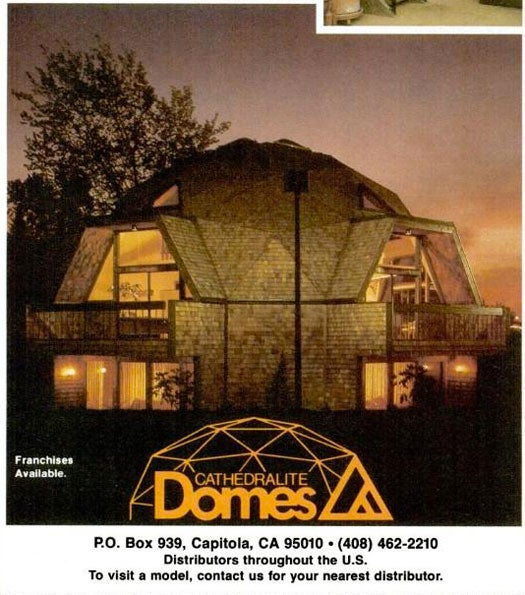 Cathedralite Dome Homes: July 1980