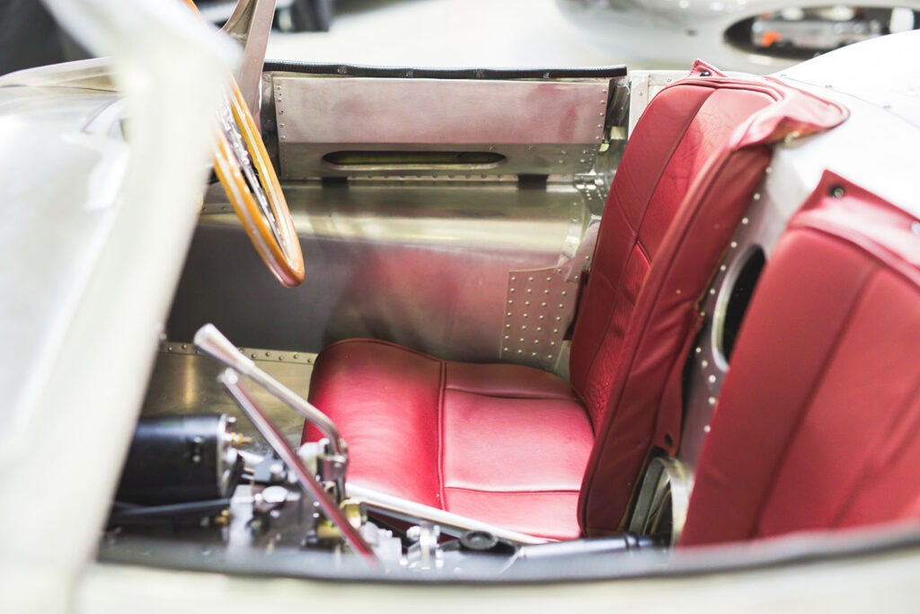 Leather interior of Jaguar's XKSS