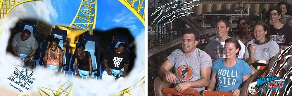 expression photography on thrill rides