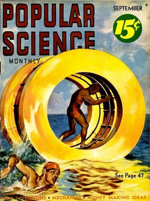 Water-Wheel Racing: September 1938