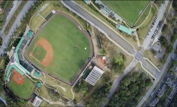 Major Leaguer Catches Drone Tossed Baseball