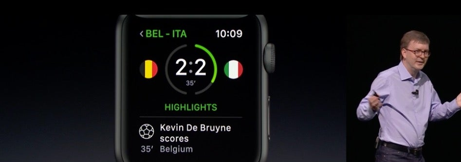 Apple demonstrated watchOS 3 at WWDC on Monday.