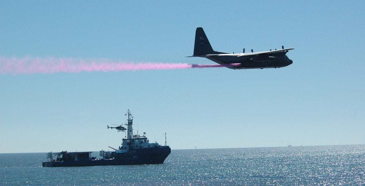Aerial Tankers Attack Massive Gulf of Mexico Oil Slick with Dispersant