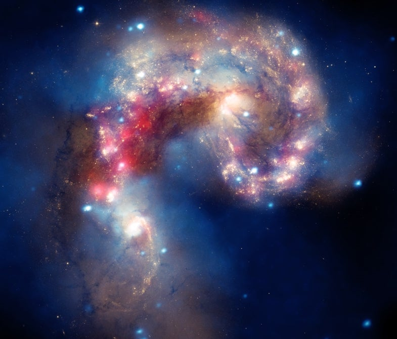 Antennae Galaxies Collide in Beautiful Slow Motion