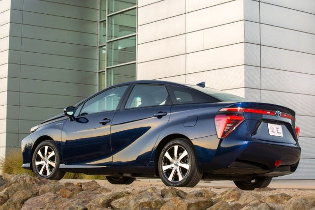 2016 Toyota Mirai exterior shot from the rear