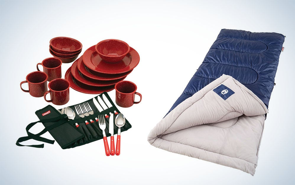 Coleman camping gear