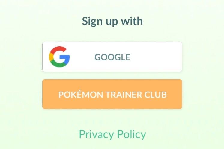Pokémon Go privacy with Google