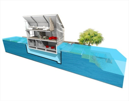 Britain Is Testing An Amphibious House That Rises Along WIth Floodwaters