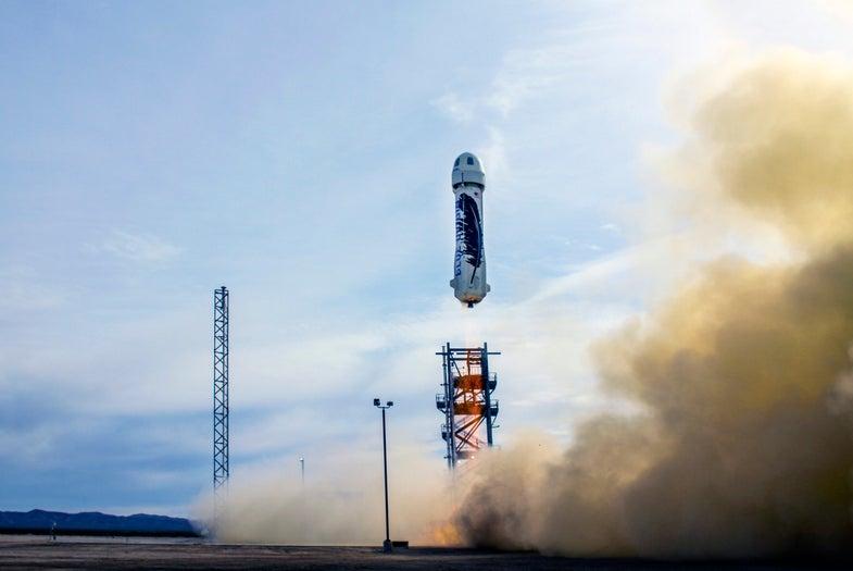 Blue Origin's New Shepard rocket launches