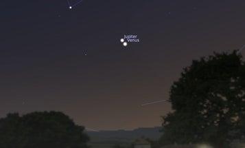 Next Week, Watch Venus And Jupiter High-Five In The Night Sky