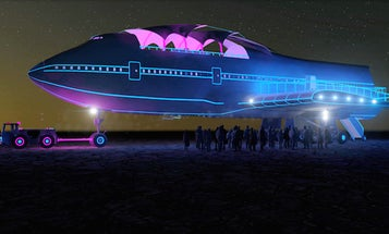 Check Out The Gutted 747 At Burning Man