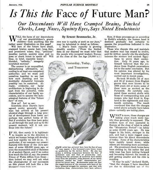 Evolution of Man: January 1926