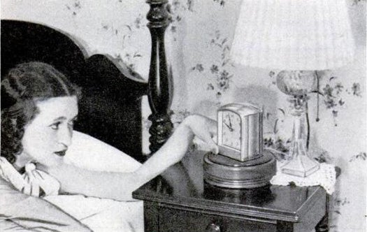 An Alarm Clock Lazy Susan for Lazy People, November 1939