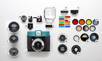 A Polaroid-style camera with interchangeable lenses and a hotshoe flash? Yes please.