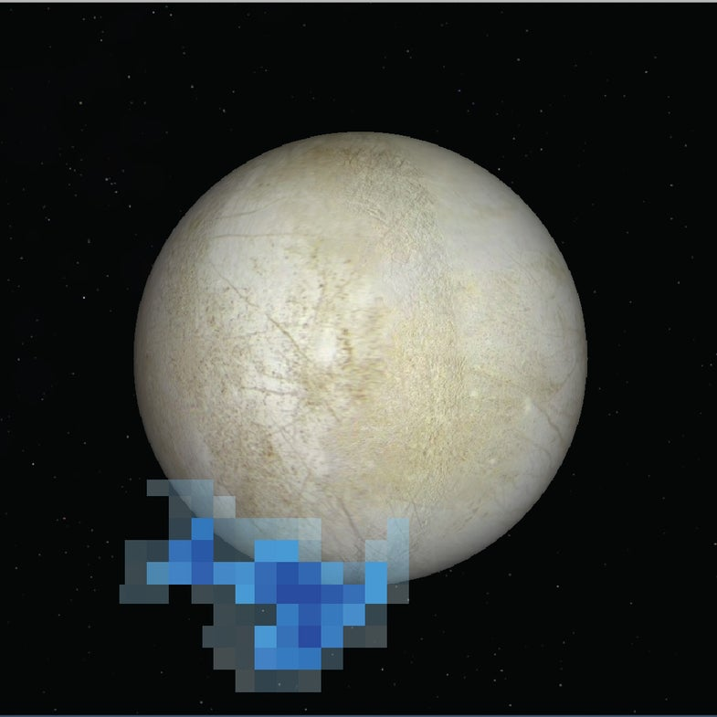 water plumes on europa
