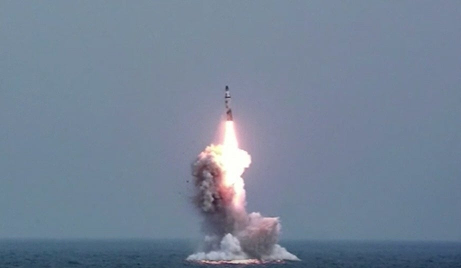 North Korean Missile Clears The Sea