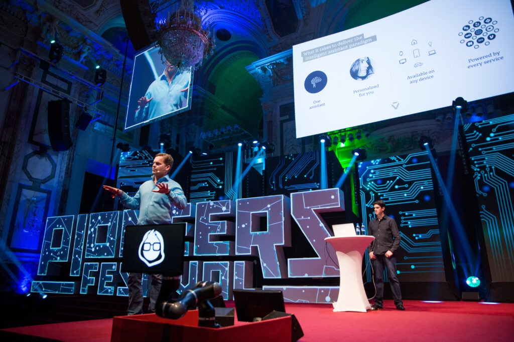 Viv creator Dag Kittlaus talks about the new virtual personal assistant at Pioneers Festival 2016.
