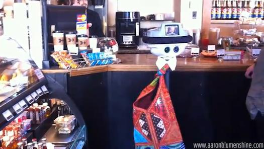 Video: Anybots Robot Orders Scone at Palo Alto Coffeeshop
