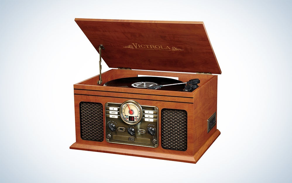 Victrola six-in-one entertainment center