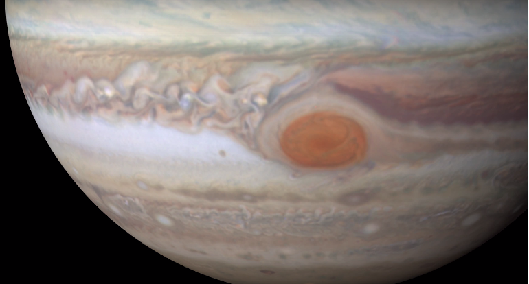 New Features Of Jupiter's Great Red Spot Revealed In 4K Video