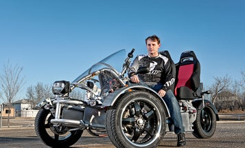 You Built What?!: A Street-Legal Three-Wheeler That Runs on Nearly 2,000 Batteries