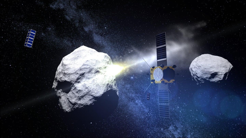 ESA's AIM watches NASA's DART Crash Into Didymoon