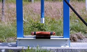 Watch A Hydraulic Press Crush Dynamite