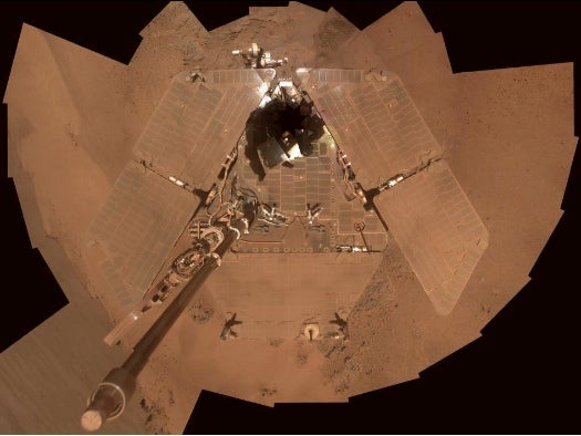 Opportunity Snaps a Self-Portrait As It Preps for the Martian Winter