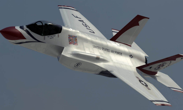 F-35 Joint Strike Fighter Takes On Thunderbirds Stripes