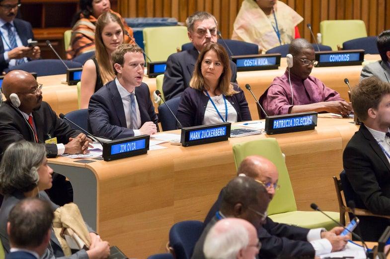 Facebook CEO Tells U.N. That Global Internet Should Start In Refugee Camps