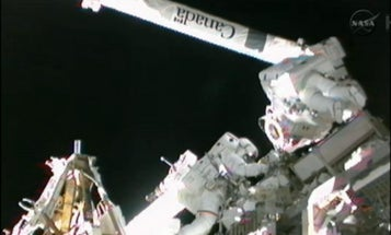 Astronauts Repair $150 Billion Space Station with a Toothbrush and Some Bent Wire