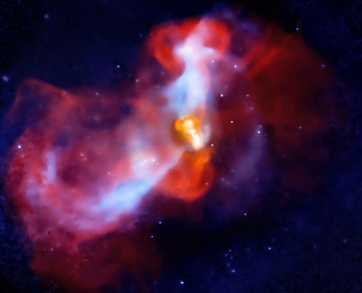 Pair of Telescopes Captures Supermassive Black Hole Eruption