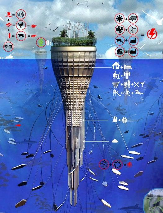 Concept Waterscraper Brings Monumental Architecture Into The Open Sea