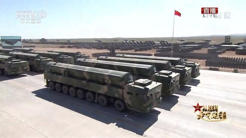 PLA China 90th Anniversary Parade Zhurihe DF-31AG ICBM
