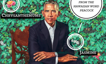DEVELOPMENT EXAMPLE: The botany in Obama's official portrait represents his history