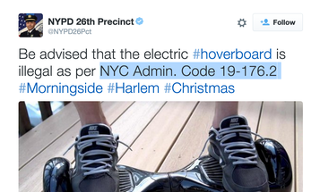 NYPD Tweet Claims That 'Hoverboards' Are Illegal