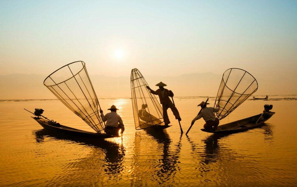 Fishermen in Vietnam.