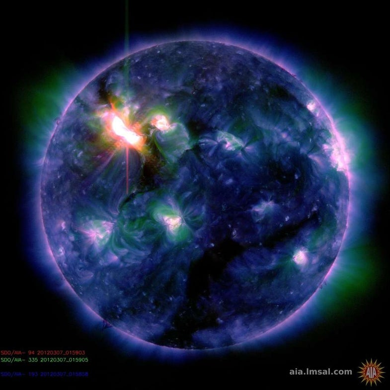 Video: Gigantic Solar Flare Will Wash Over the Earth This Morning