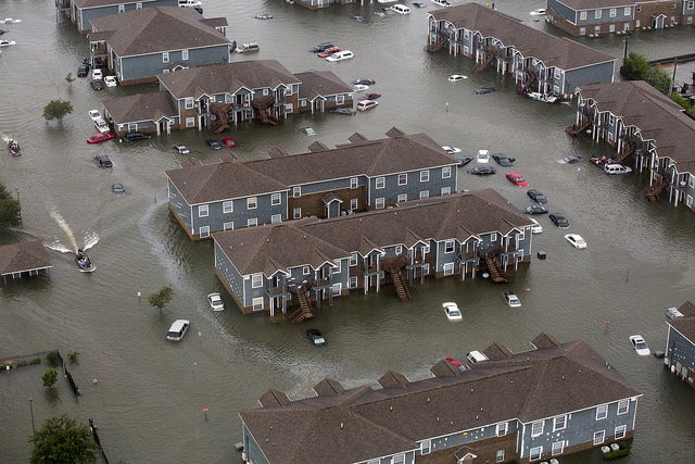 Hurricane flood waters