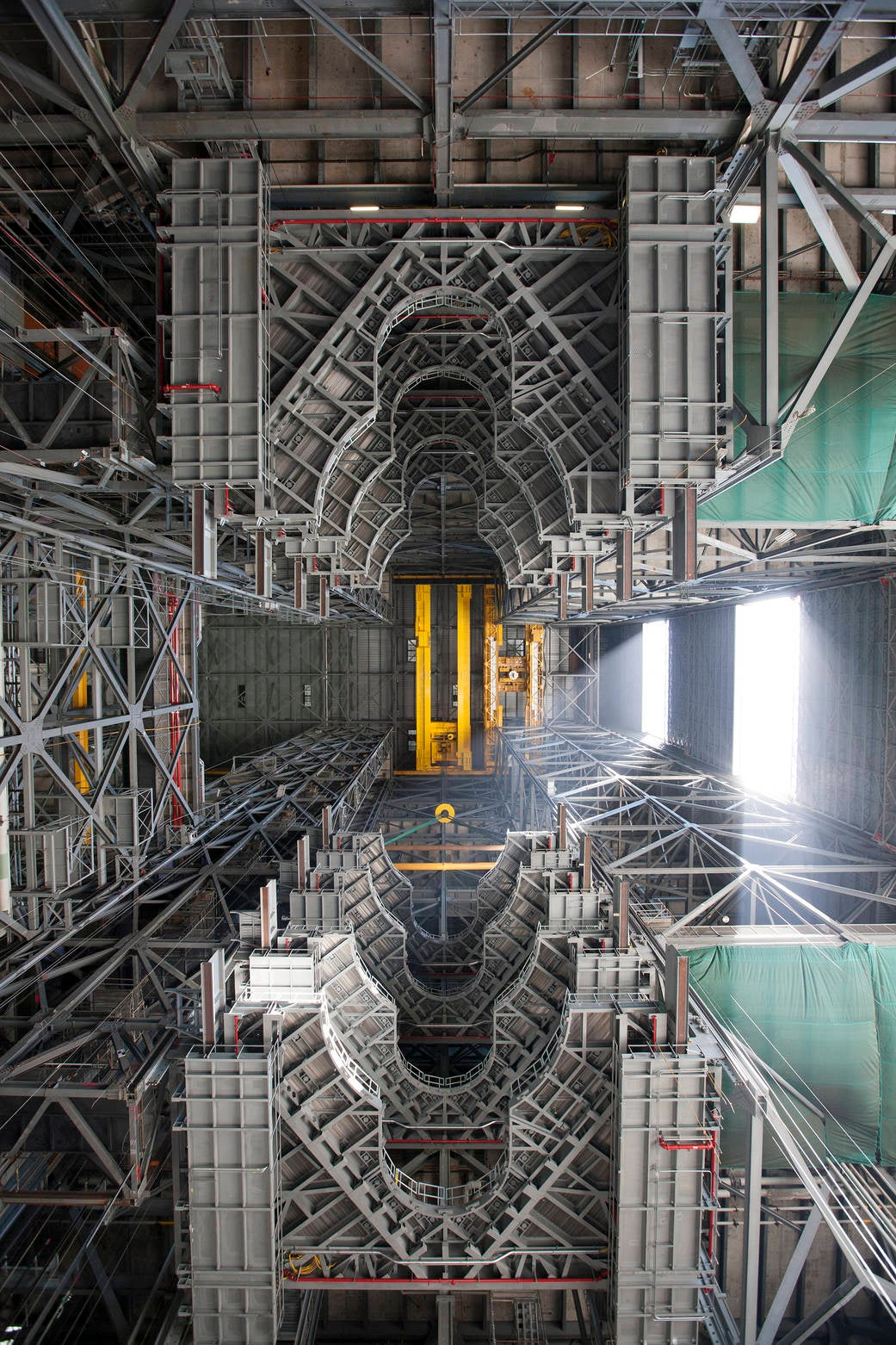 The Dizzying View Inside NASA's Vehicle Assembly Building
