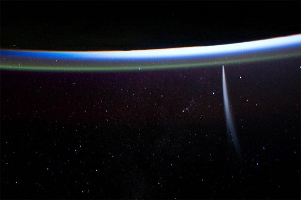 Comet Lovejoy, as Seen from the International Space Station