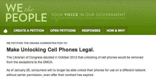 The White House Responds: Yes, You Should Be Able To Unlock Your Own Smartphone