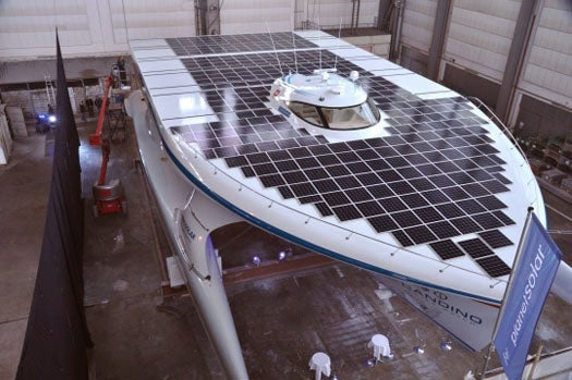 World's Largest Solar Powered Boat Unveiled, Global Voyage Slated for 2011